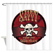 Inner Pirates Shower Curtain