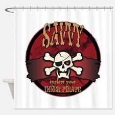 Inner Pirates Shower Curtain