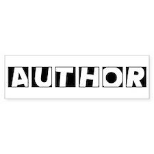 Author Bumper Bumper Sticker