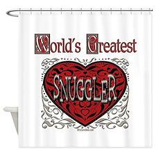 World's Best Snuggler Shower Curtain