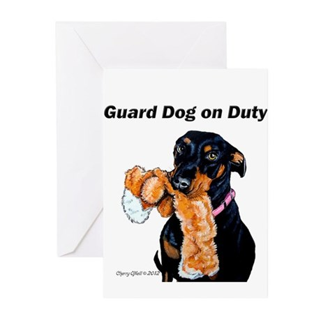 Guard Dog Doberman Greeting Cards (Pk of 20)