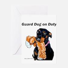 Guard Dog Doberman Greeting Card