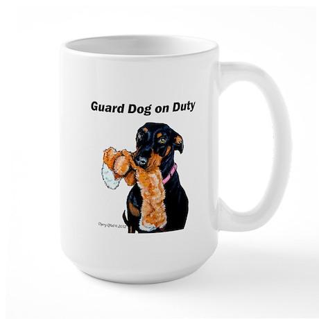 Guard Dog Doberman Large Mug
