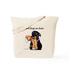 Guard Dog Doberman Tote Bag