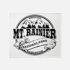 Mt. Rainier Old Circle Throw Blanket