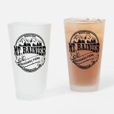 Mt. Rainier Old Circle Drinking Glass