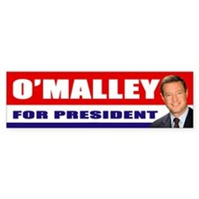 OMalley for President Bumper Car Sticker