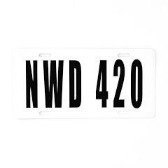 4/20 Aluminum License Plate