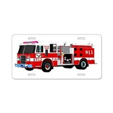 Fire Engine Aluminum License Plate