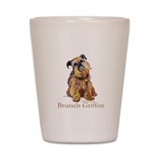 Brussels Griffon Shot Glass