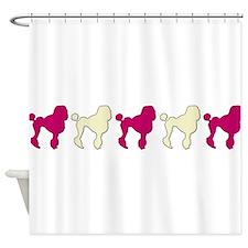 Poodle Parade Shower Curtain