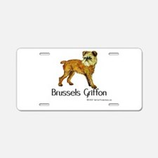 Brussels Griffon Aluminum License Plate