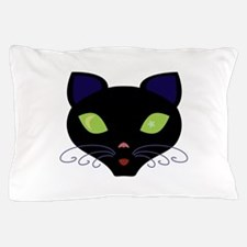 Night Cat Vector Pillow Case