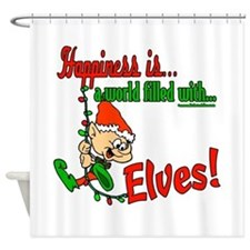 Happiness is an Elf Shower Curtain
