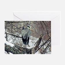Funny Heron Greeting Card