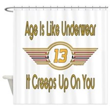 Funny 13th Birthday Shower Curtain