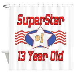 Superstar at 13 Shower Curtain