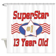 Superstar at 13 Shower Curtain