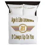 Funny 21st Birthday Queen Duvet