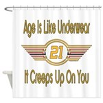 Funny 21st Birthday Shower Curtain