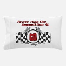 Racing At 60 Pillow Case