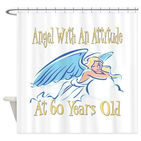 Angel Attitude 60th Shower Curtain