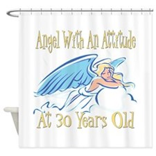 Angel Attitude 30th Shower Curtain