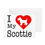 I Love My Scottish Terrier Greeting Cards (Pk of 2