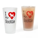 I Love My Scottish Terrier Drinking Glass