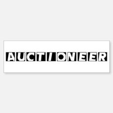 Auctioneer Bumper Car Car Sticker