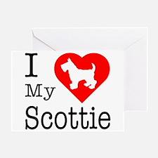 I Love My Scottish Terrier Greeting Card