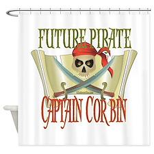 Future Pirates Shower Curtain