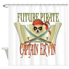 Future Pirates Shower Curtain