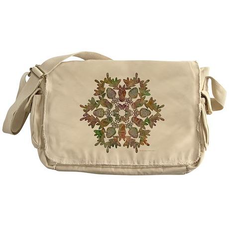 Moose Snowflake Messenger Bag