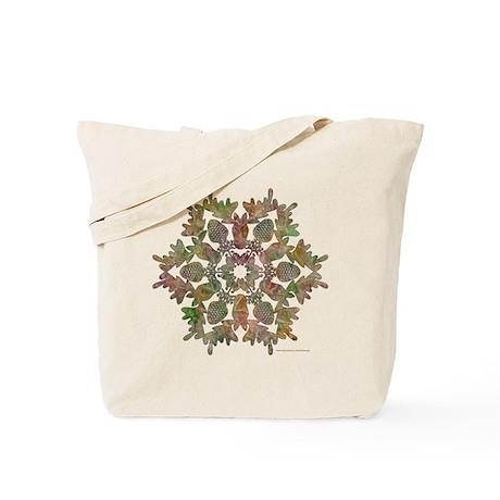 Moose Snowflake Tote Bag