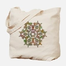 Moose Snowflake Tote Bag