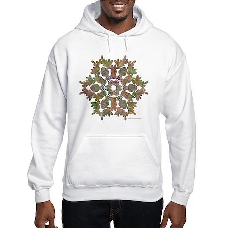 Moose Snowflake Hooded Sweatshirt