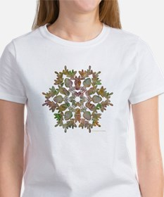 Moose Snowflake Women's T-Shirt