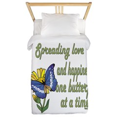 Spreading Love Butterfly Twin Duvet