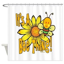 It's A Bee Thing Shower Curtain