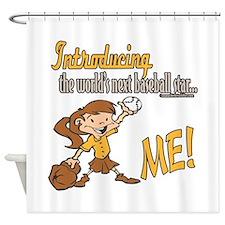 Future Baseball Star Shower Curtain