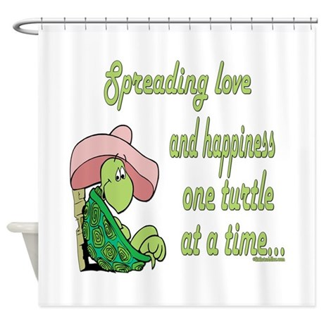 Spreading Love Turtles Shower Curtain