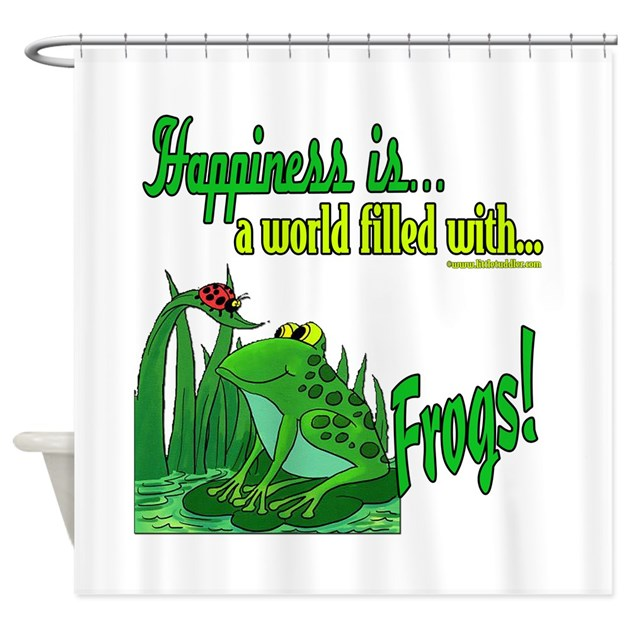 Happiness Is A Frog Shower Curtain By Littletuddler