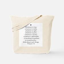 PHILIPPIANS 4:8 Tote Bag