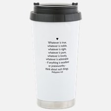 PHILIPPIANS 4:8 Stainless Steel Travel Mug