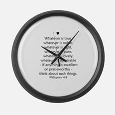 PHILIPPIANS 4:8 Large Wall Clock