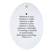 PHILIPPIANS 4:8 Ornament (Oval)