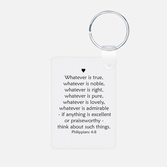 Philippians 4:8 Keychains