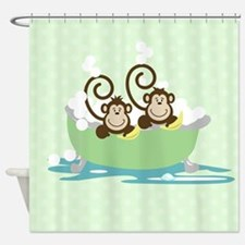 Silly Monkeys in Tub Shower Curtain
