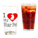I Love My Scottish Terrier Drinking Glass